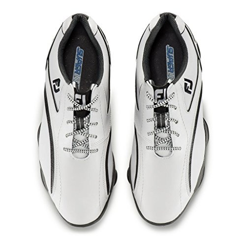 FootJoy SuperLites Cleated Golf Shoes (White/Black) 11.5 D(M) US