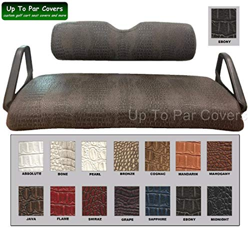 E-Z-Go Club Car Yamaha Tomberlin Gator Print Custom Golf Cart Seat Cover Set - Staple On - Choose Your Color From Our Color Chart!