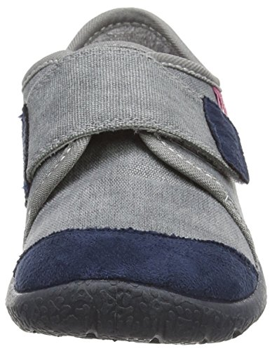 Beck Basic - pantuflas con forro Unisex niños Gris - Grau (24)