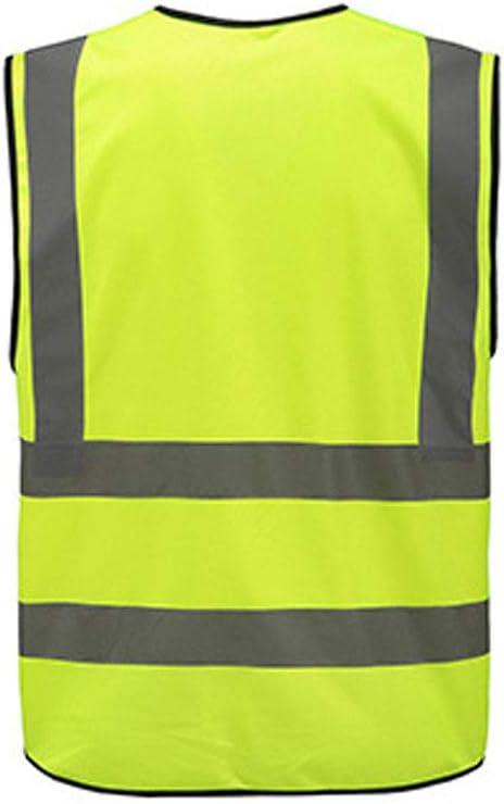 Mintice Gelb Reflektierend Sicherheit Warnweste Reflektorweste Sicherheitsweste Schaltstreifen Fahrrad Laufweste Jacke Hell Weste G/ürtel Karosserie Laufbekleidung Einstellbar Warnung 360 Grad