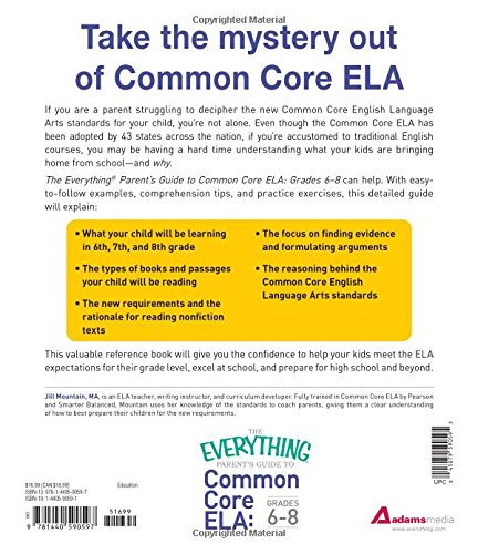 The Everything Parent's Guide to Common Core ELA, Grades 6-8 ...