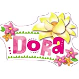 """5"""" Dora the Explorer Name Text Removable Peel Self Stick Adhesive Vinyl Decorative Wall Decal Sticker Art Kids Room Home Decor Girl Children Bedroom Nursery 5 x 3 inches tall"""