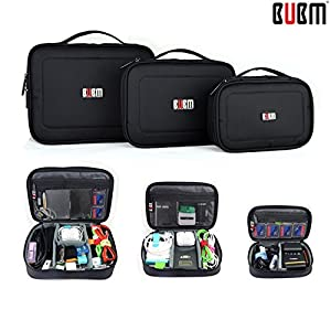 BUBM Waterproof 3pcs/set Portable Multi-functional Digital Storage Bag Electronic Accessories Travel Organizer Case Charger Cable Organizer Triple Set bag