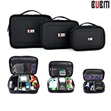 BUBM 3pcs/set Waterproof Portable Universal Multi-functional Digital Storage Bag Electronic Accessories Cable Organizer Bag Carrying Case Camera Lens Charger Cable Organiser Triple Set bag