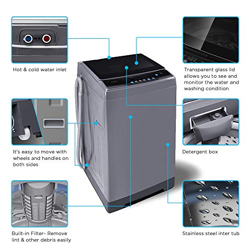 COMFEE� 1.6 Cu.ft Portable Washing Machine 11lbs Capacity Fully Automatic Compa