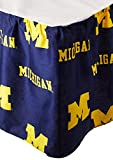 College Covers Michigan Wolverines Dust Ruffle - King