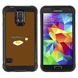 iKiki Tech / Estuche rígido - Egg Food Baby Chicken Art Drawing Symbolic - Samsung Galaxy S5 SM-G900
