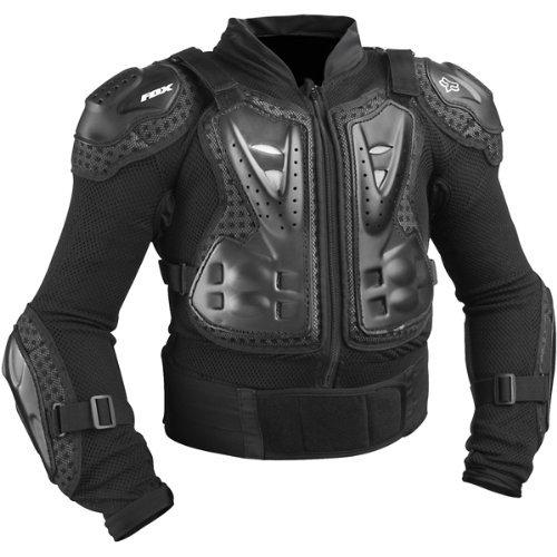 (Fox Racing Titan Sport Jacket Youth Boys Roost Deflector MotoX/Off-Road/Dirt Bike Motorcycle Body Armor - Black / One)