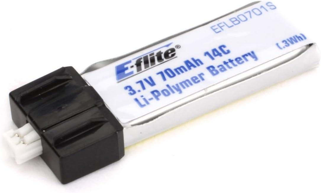 E-flite 70mAh 1S 3.7V 14C LiPo Battery