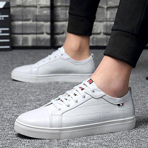 Hommes Casual Chaussures de sport pour hommes authentiques Sneakers Baskets Adultes en cuir unisexe ( Color : White mesh-47 ) Blanc-36 yNG8H
