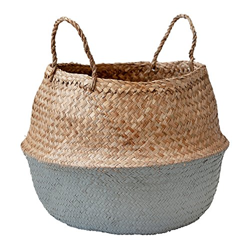 Dcors Vronneau Grey Color Block Belly Basket