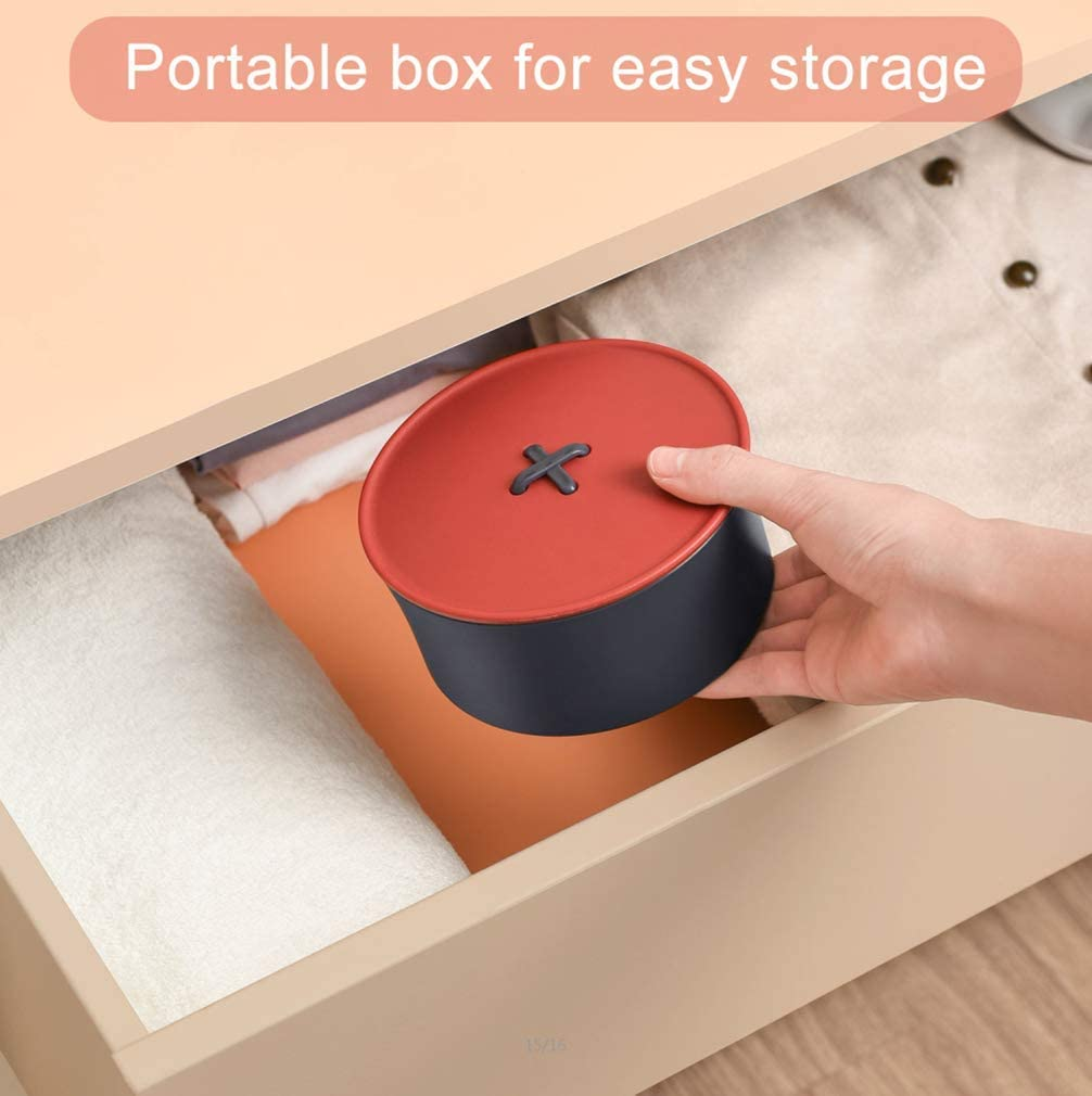 Sewing Kit,Sewing Box for Easy Carrying and Storage,Suitable for Adults,Student,Travel,Home Sewing Set for Beginners. Blue Red