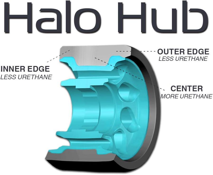 Set of 4 Radar Halo 59mm Roller Derby Skating Wheels Purple, 84a