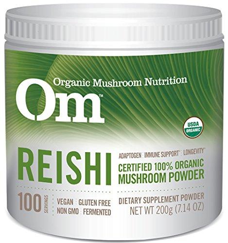 Om Organic Mushroom Nutrition Reishi, 7.14 Ounce (Full Spectrum Reishi Mushroom)
