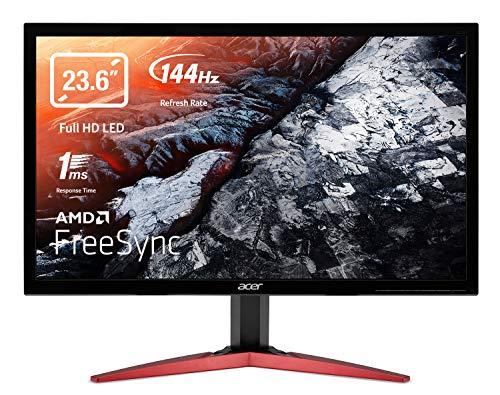 "ACER KG241QS - 23.6"" (Full HD)1920 x 1080 overclock to 165 Hz -AMD Free-Sync -Flicker-free, Bluelight Shield-Zero Frame - Black - 2 years warranty"