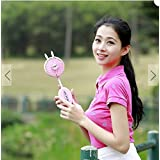 Loskii LF-092 Mini USB Handheld Standy Fan Summer Cooling Protable Travel Outdoor Fan (pink)
