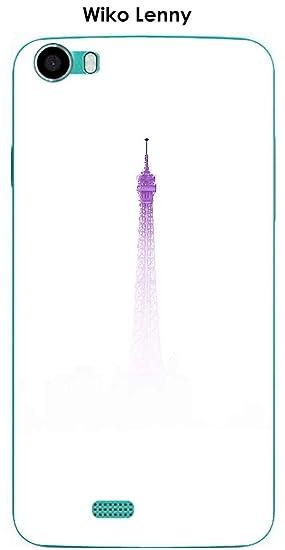 Onozo Carcasa Wiko Lenny Design Paris Rosa contaminación no ...