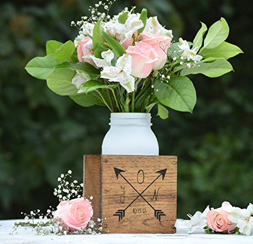 Personalized Flower Vase - Planter Vase - Wood Flower Box - Wedding Centerpiece - Wooden Planter Box - Rustic Home Decor - Personalized Gift