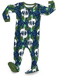 Baby Boys Girls Footed Pajamas Sleeper 100% Organic Cotton Kids & Toddler Pjs Sleepwear (