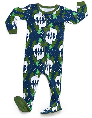 Leveret Organic Cotton Bear Footed Pajama Sleeper 3