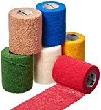 3M Health Care 1583A Coban Self-Adherent Wrap, Elastic, 5 yd. L x 3'' W, Assortment Color (Pack of 12)