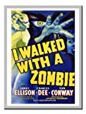 Iposters I Walked With A Zombie Movie Print Silver Framed - 41 X 31 Cms (approx 16 X 12 Inches)