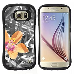 "Hypernova Slim Fit Dual Barniz Protector Caso Case Funda Para Samsung Galaxy S6 [Planta Naturaleza Forrest Flor 40""]"