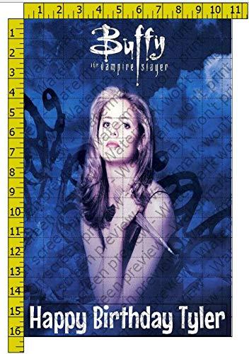Buffy the Vampire Slayer TV Show Edible Cake Topper Image - 1/2 sheet