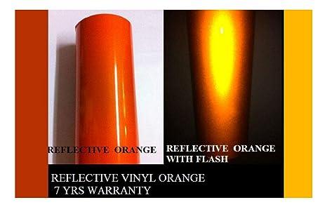 "12/"" x 5 ft  ORANGE  Reflective Vinyl Adhesive Cutter Sign Hight Reflectivity"