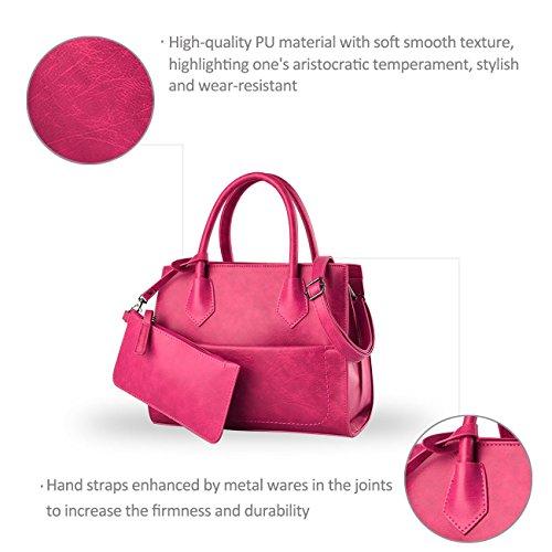 Nicole&Doris nuova ondata di borsa a tracolla della borsa di modo retro del messaggero borsa della donna(Rose)