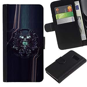 EJOY---La carpeta del tirón la caja de cuero de alta calidad de la PU Caso protector / Samsung Galaxy S6 / --Sci Fi Crest