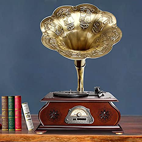 GFEI Antigua maquina tocadiscos vinilo adornos / Sound Big Horn ...