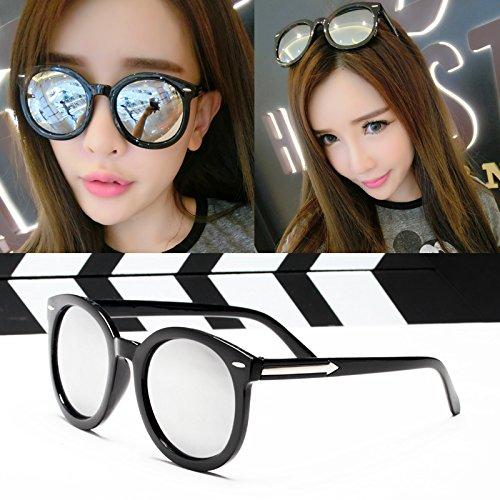 élégante nouvelle personnalité des lunettes de soleil mesdames les lunettes de soleil les lunettes la marée de stars visage rond korean les yeuxbright noir et blanc du mercure (tissu) CqGN163z9x