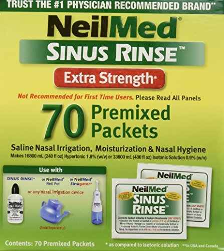 Neilmed Sinus Rinse Extra Strength Hypertonic 70 Packets by NeilMed