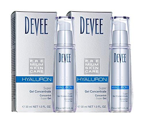 Devee Hyaluron Gel Superkonzentrat 60ml (2 x 30ml ) Sparset, kristallklares Gel, für jeden Hauttyp