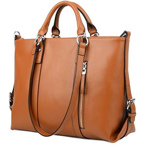 New Women Leather Work Satchel Handbag Tote Bag Shoulder Bag Day Purse w/ Buckle See more like this MANDAVA Women's Genuine Leather Tote Shoulder Bag for Work .
