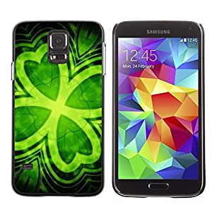 Design for Girls Plastic Cover Case FOR Samsung Galaxy S5 Leaf Clover Green Ireland St Patrick'S OBBA