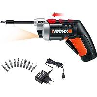 WORX WX252 sladdlös skruvmejsel XTD 4V – lätt och liten – utdragbar drivaxel med förskjuten bitinspelning och automatisk…