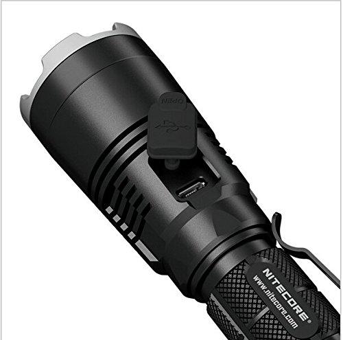 new Nitecore MH27 CREE XP-L HI V3 LED with RGB 1000Lmn USB Rechargeable Tactical Flashlight w/ Nitecore 18650 26000mAh NL186 Li-ion battery
