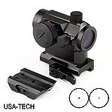 micro dot sight - MGS Military Gear ABB Tactical Mini Micro Reflex Dot Scope Sight with QD Quick Riser Mount, Red