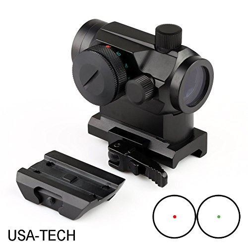 MGS Military Gear ABB Tactical Mini Micro Reflex Dot Scope Sight with QD Quick Riser Mount, Red by MGS Military Gear
