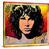 Gallery-Wrapped Canvas Entitled Jim Morrison Light My Fire 3 by Great Big Canvas 20''x18''