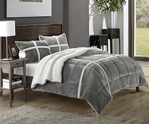 Chic Home 3 Piece Chloe Comforter Set King Silver from Chic Home