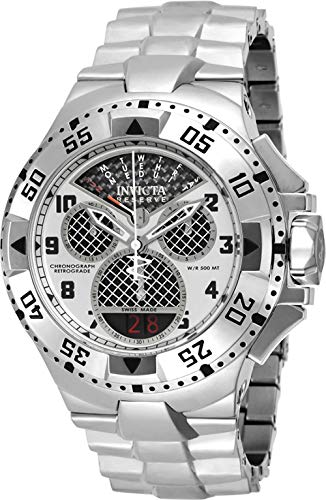 Invicta Men Swiss Quartz Steel Watch - Invicta Men's 'Excursion' Swiss Quartz Stainless Steel Casual Watch, Color:Silver-Toned (Model: 17468)