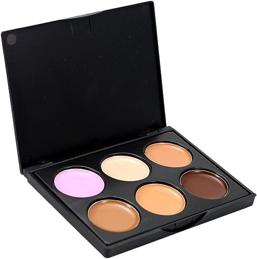 Toygogo Profesional 6 Colores Altamente Pigmentados A Base De Paleta De Corrector En Crema Contorno De Rostro Highlighter Bronzer Kit De Maquillaje Set - # 2: Amazon.es: Belleza