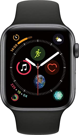 Amazon Com Apple Watch Series 4 Gps 44mm Space Gray Aluminum Case With Black Sport Band Renewed