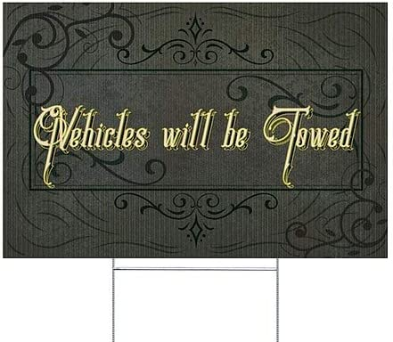 5-Pack CGSignLab Victorian Frame Double-Sided Weather-Resistant Yard Sign Vehicles Will Be Towed 18x12