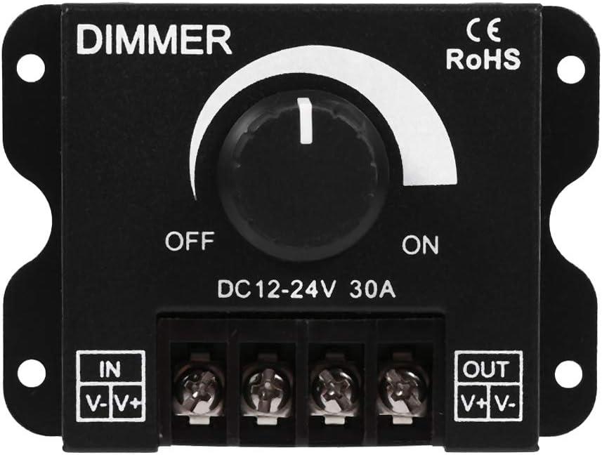 Regulador de intensidad para luces,Dimmer operación manual del interruptor de 12V-24V 30A Regulador Cambio de brillo para Luz LED