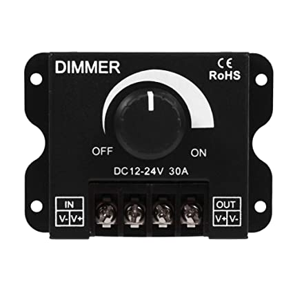 Regulador de intensidad para luces,Dimmer operación manual del interruptor de 12V-24V 30A