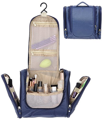 9d22c0b19455 House of Quirk Modern Navy Blue Toiletry Bag